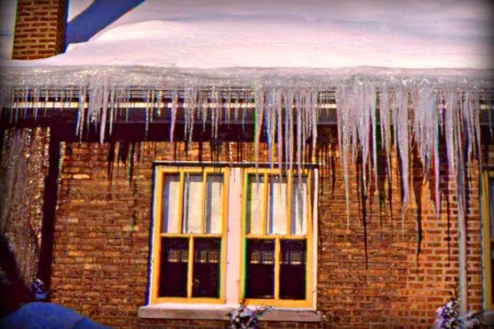 Gutter icicles